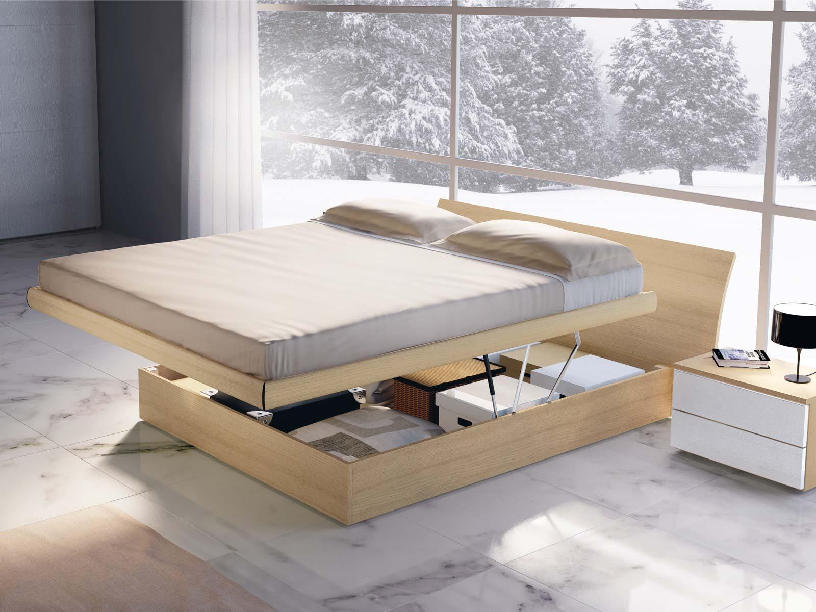 Design letto mussi arredamenti - Letto legno design ...